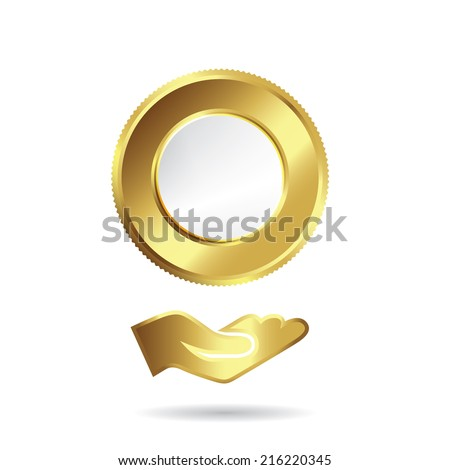 gold and silver coin icon design art work gold coin and money