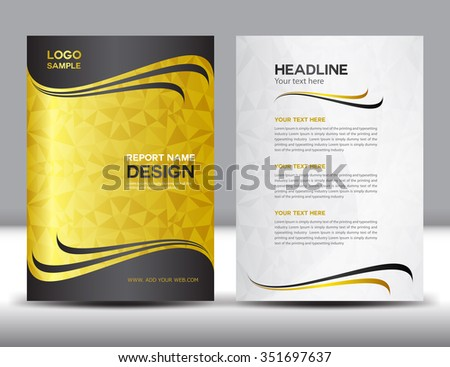 Gold Annual Report Vector Illustrationcover Designbrochure Stock