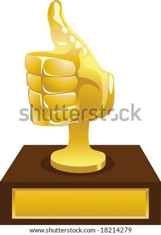 Gold award - stock vector