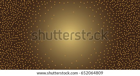 Gold background. Gold glitter texture isolated on black background. Golden explosion of confetti. Celebratory background. Vector illustration,eps 10.