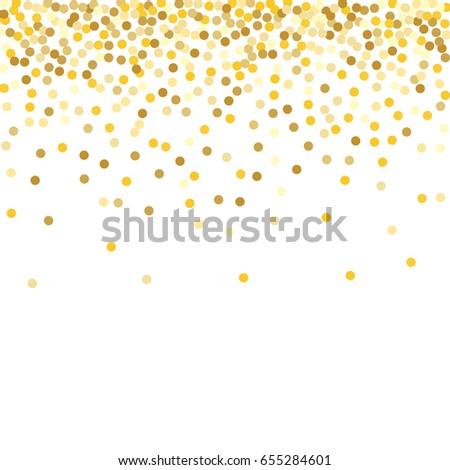 Gold Glitter Background Polka Dot Vector Stock Vector
