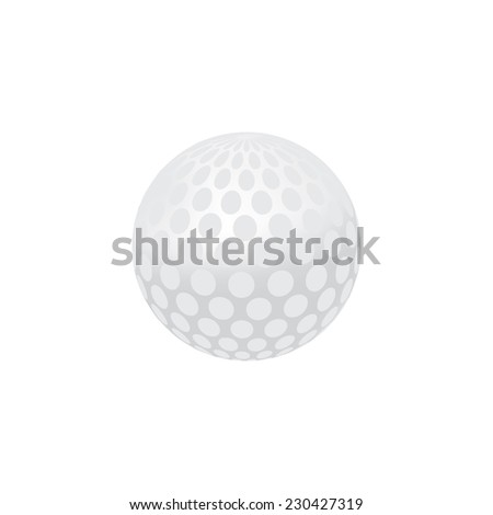 Gold ball, sports ball, sport equipment, isolated on white - stock vector