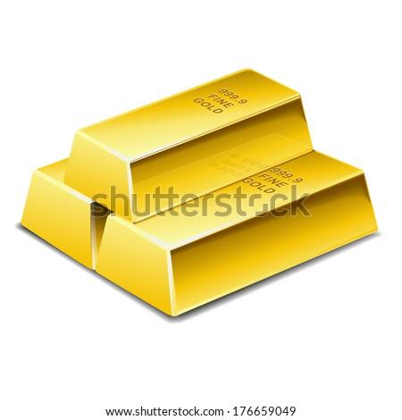 Gold bar - stock vector