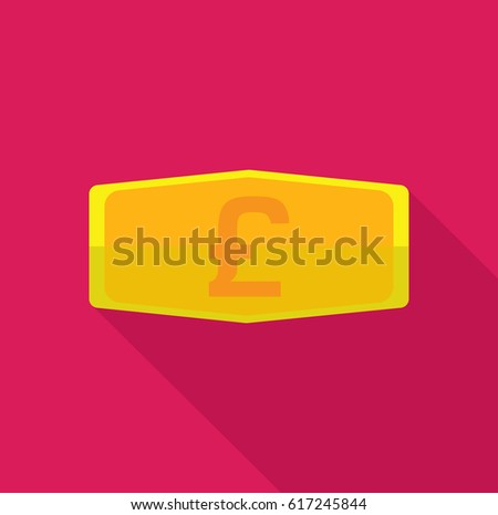 Gold Bar Symbol Pound Sterling Uk Stock Vector 617245844 Shutterstock