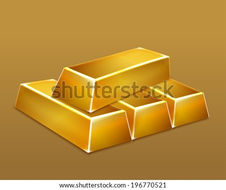 Gold bars. Vector - stock vector