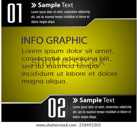 gold black modern text box template for website computer graphic and internet, numbers.