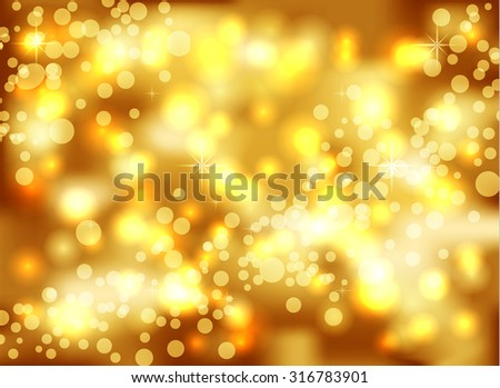 Gold  blurred background - stock vector
