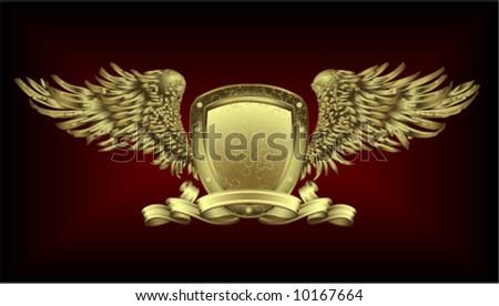 Gold board - stock vector