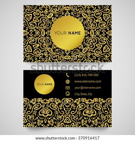 Gold business card template bright golden stock vector royalty free gold business card template bright golden stock vector royalty free 370916417 shutterstock reheart Choice Image
