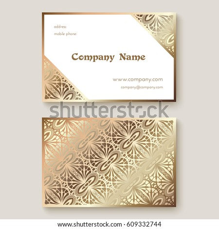 Gold business card metallic foil texture stock vector royalty free gold business card with metallic foil texture vector illustration reheart Choice Image