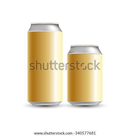 gold can vector
