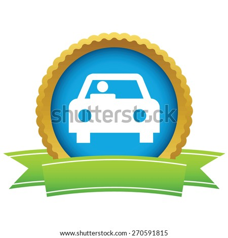 Gold car logo on a white background. Vector illustration - stock vector