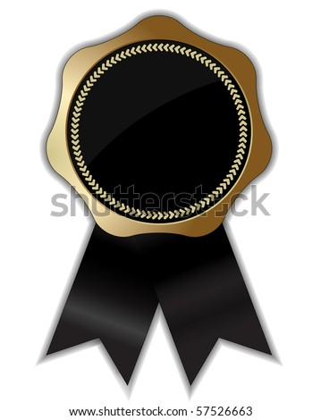 gold certified seal isolated on white background - stock vector