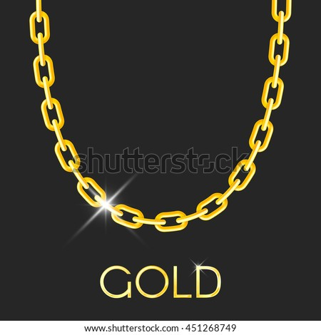 Gold Chain Stock Royalty Free & Vectors