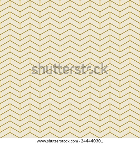 gold chevron pattern of divided corners in art deco style. can be tiled seamlessly. - stock vector
