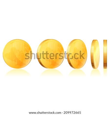 Gold coins.Vector - stock vector