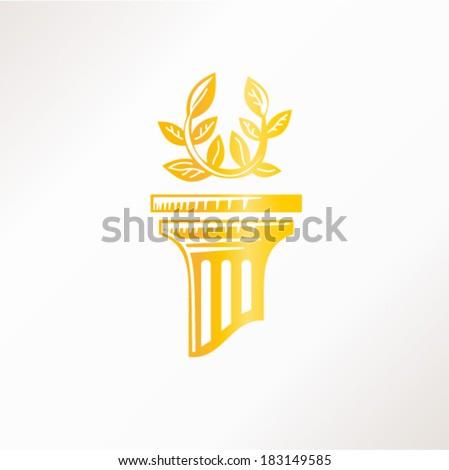 Gold Column Vector Gold Column Stock Vector