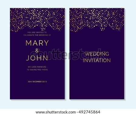 gold confetti on purple background design stock vector 492745864 shutterstock
