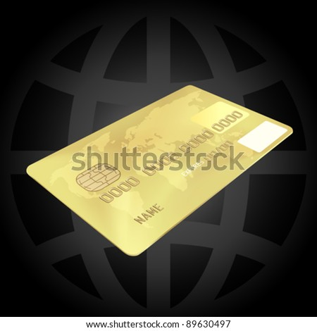 Gold Credit Card Concept (EPS10) - stock vector
