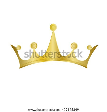 Gold Crown, Vector Illustration