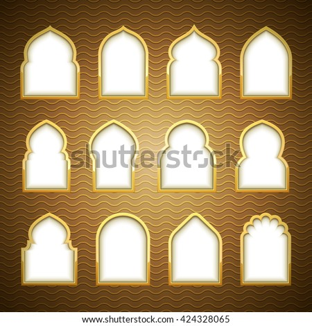 Mosque door stock images royalty free images vectors for Window design vector