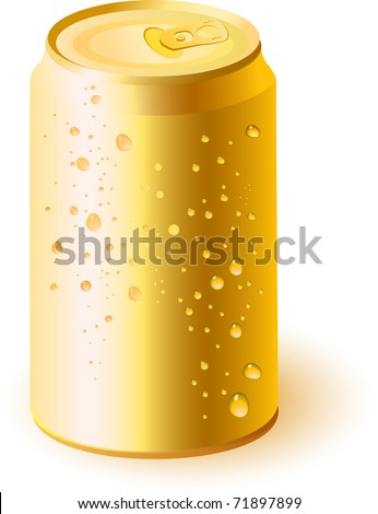 Gold drink can