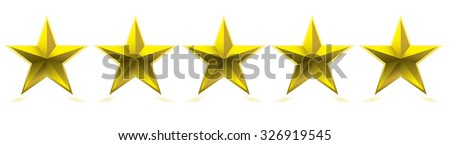 Gold five star award for your company - stock vector