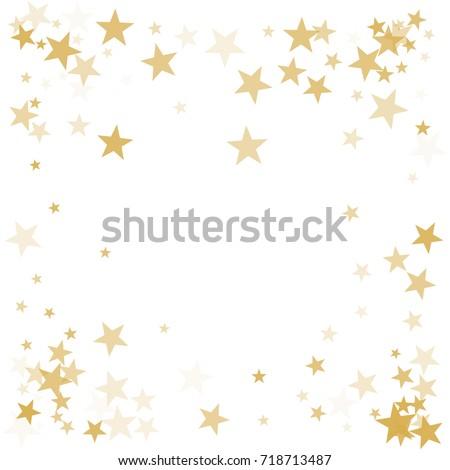Gold Flying Stars Confetti Magic Christmas Stock Vector 718713487 ...