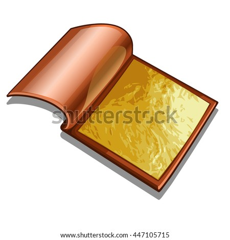 Gold foil isolated on white background. Vector illustration.