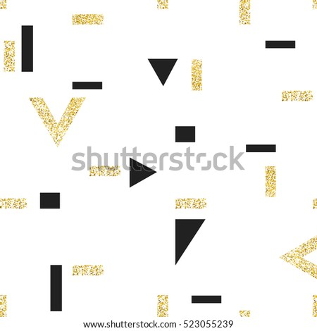 Gold geometric seamless pattern.  Vector template for holiday designs