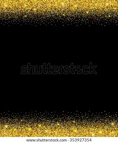 Gold glitter background gold sparkle border stock vector 353927354 gold glitter background gold sparkle border template for holiday designs invitation party stopboris Images