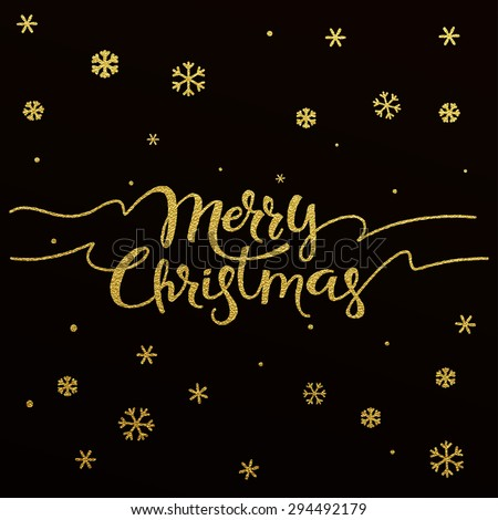 Merry Christmas Gold Text Stock Images, Royalty-Free Images ...