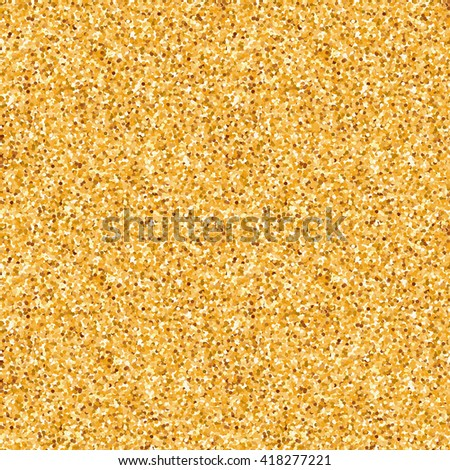 Gold glitter sparkling pattern. Decorative seamless background - stock vector