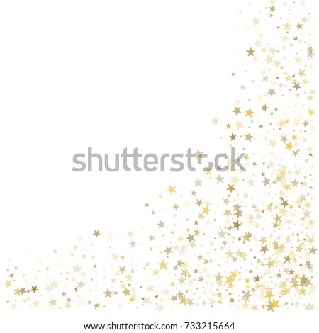 1ee888f4ff9f Stock vector gold glitter stars corners frame or border background vector  illustration golden dust flying jpg
