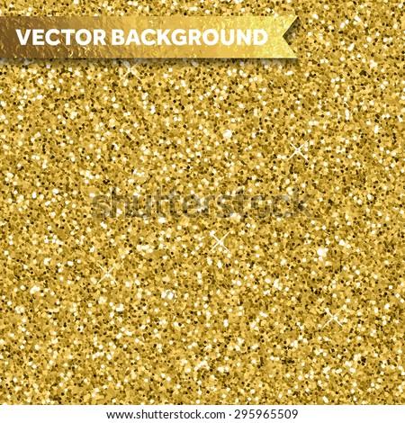 Gold glitter texture - stock vector
