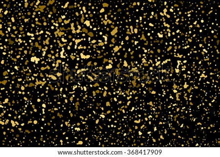 Gold glitter texture on  black background.  Vector illustration,eps 10.