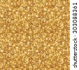 Gold Glitter Texture, Seamless Sequins Pattern. Vector Illustration. Lights and Sparkles. Glowing New Year or Christmas Backdrop. Golden Dust.  - stock photo
