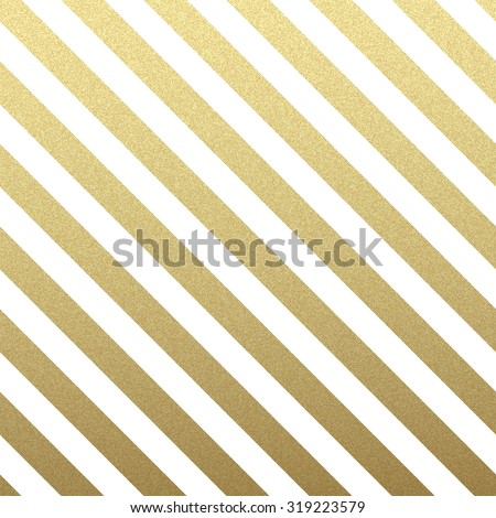 Gold glittering diagonal lines pattern on white background. . Classic pattern. Vector design - stock vector