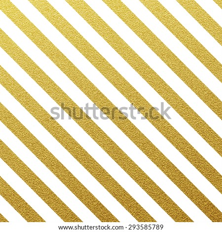 Gold glittering seamless lines pattern on white background.  - stock vector
