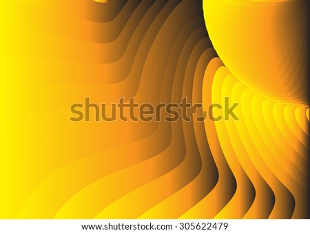 Gold gradient swivel illustration vector background.
