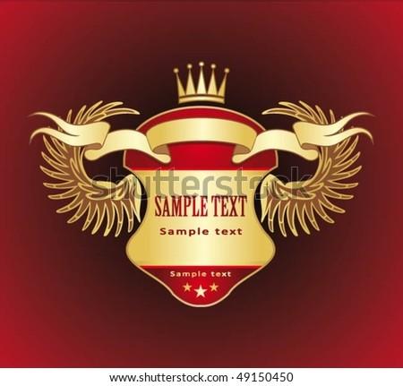 gold heraldry - stock vector