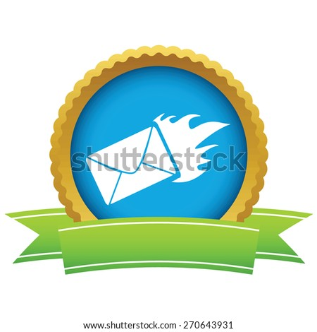 Gold hot letter logo on a white background. Vector illustration - stock vector