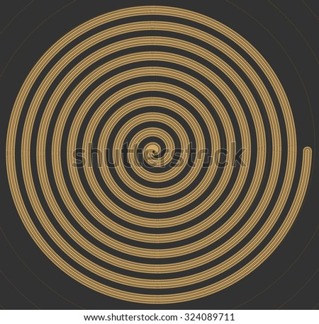 Gold hypnotic background. - stock vector