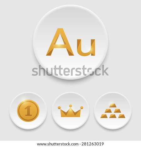 Gold icons. Eps10 - stock vector
