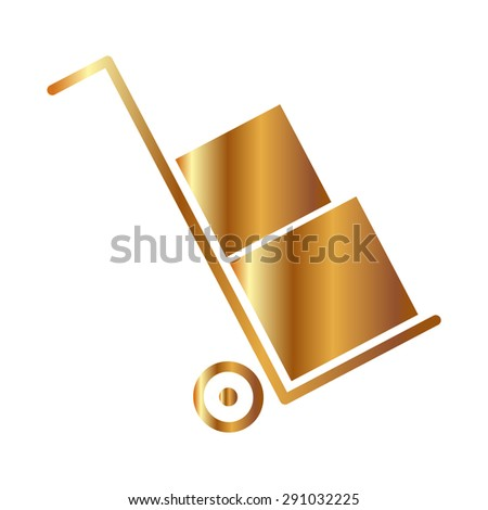 Gold  Icons set shipping and delivery  - stock vector