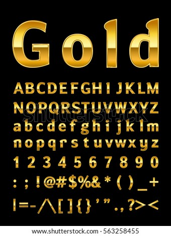 Gold Letters Stock Vector 438752002 Shutterstock