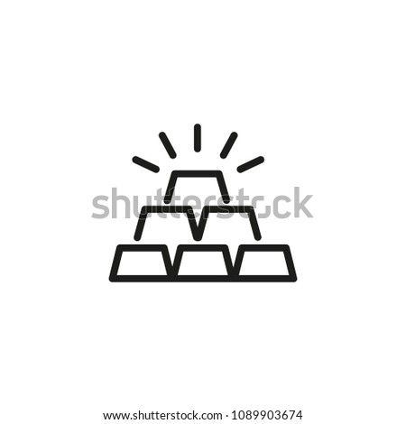Gold Line Vector Icon Bullion Bar Stock Vector 1089903674 Shutterstock