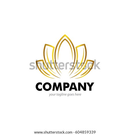 Simple tulip bud leaves design logo stock vector 461438467 for Abstract beauty salon