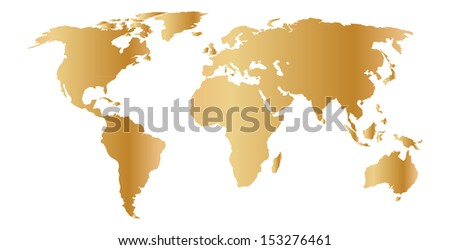 gold map - stock vector