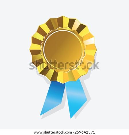 Gold medal award vector - stock vector